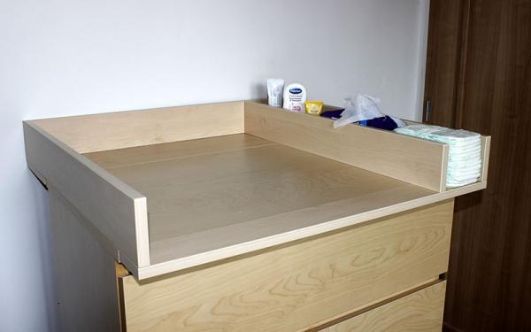 p ebalovac pult n stavec na komodu malm javor horsk s p ihr dkou. Black Bedroom Furniture Sets. Home Design Ideas